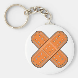 Plaster sore federation bind aid basic round button key ring