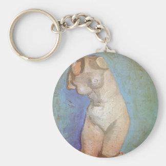 Plaster Statuette Female Torso by Vincent van Gogh Basic Round Button Key Ring