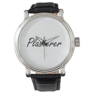 Plasterer Artistic Job Design Wristwatch