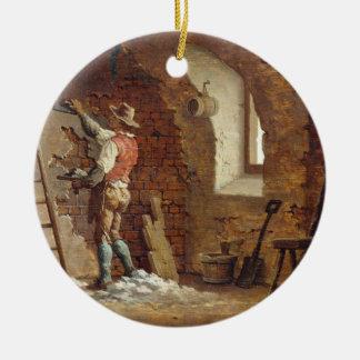 Plasterer, c.1807 (oil on panel) christmas ornament