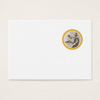 Plasterer Masonry Worker Trowel Retro Business Card