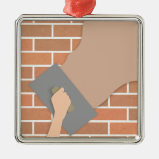 Plastering wall christmas ornament
