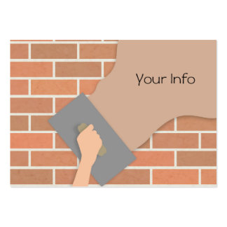 Plastering wall pack of chubby business cards