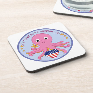 Plastic and Cork Coasters Octopus For A Preemie US