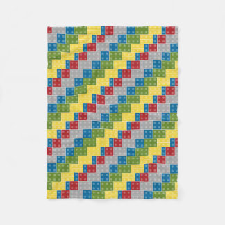 Plastic Blocks Pattern Illustration Fleece Blanket