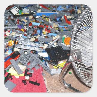 Plastic brick toys, washing, drying sticker