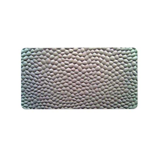 Plastic Bubbles Texture Label