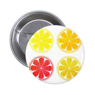 Plastic button with citruses