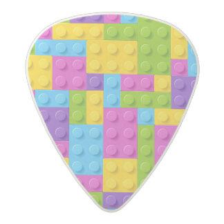 Plastic Construction Blocks Pattern Acetal Guitar Pick