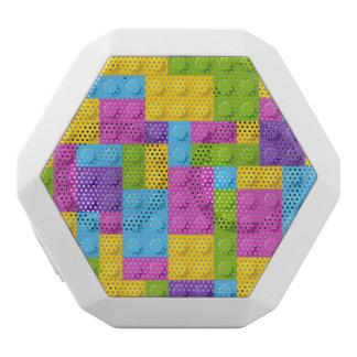 Plastic Construction Blocks Pattern White Boombot Rex Bluetooth Speaker