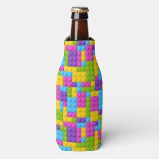 Plastic Construction Blocks Pattern Bottle Cooler