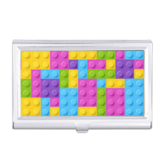 Plastic Construction Blocks Pattern Business Card Case