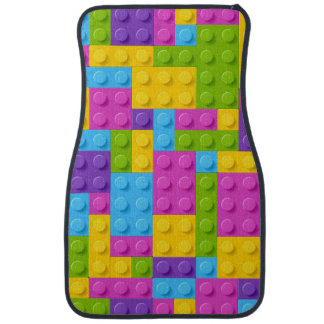 Plastic Construction Blocks Pattern Car Mat