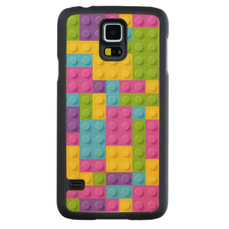Plastic Construction Blocks Pattern Carved Maple Galaxy S5 Case