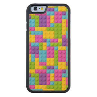 Plastic Construction Blocks Pattern Carved Maple iPhone 6 Bumper Case