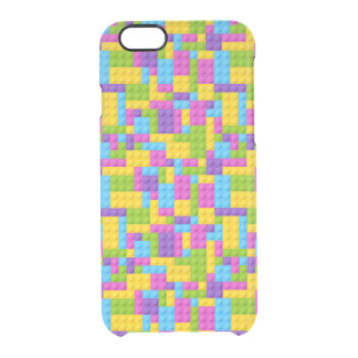 Plastic Construction Blocks Pattern Clear iPhone 6/6S Case