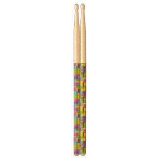 Plastic Construction Blocks Pattern Drumsticks