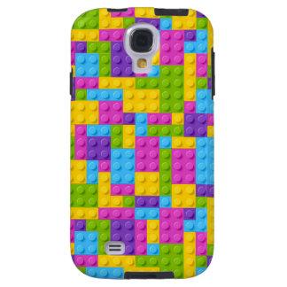 Plastic Construction Blocks Pattern Galaxy S4 Case