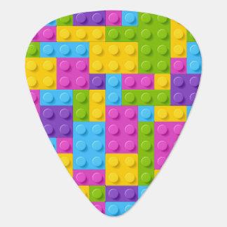 Plastic Construction Blocks Pattern Guitar Pick