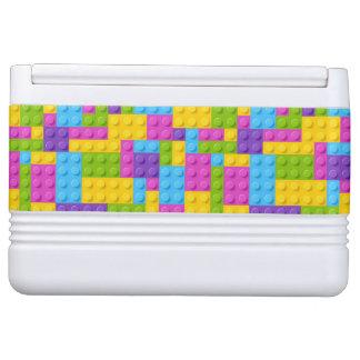 Plastic Construction Blocks Pattern Igloo Cooler