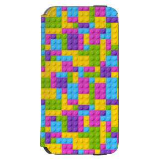 Plastic Construction Blocks Pattern Incipio Watson™ iPhone 6 Wallet Case