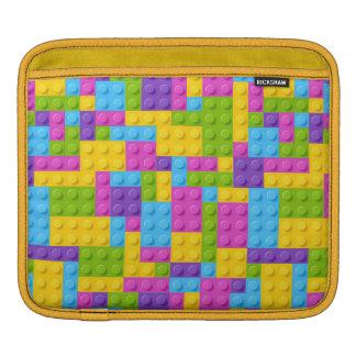 Plastic Construction Blocks Pattern iPad Sleeve
