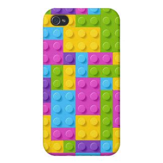 Plastic Construction Blocks Pattern iPhone 4 Case