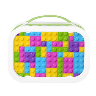 Plastic Construction Blocks Pattern Lunch Box