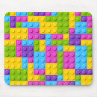 Plastic Construction Blocks Pattern Mouse Mat
