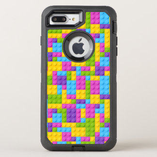 Plastic Construction Blocks Pattern OtterBox Defender iPhone 8 Plus/7 Plus Case