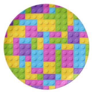 Plastic Construction Blocks Pattern Plate
