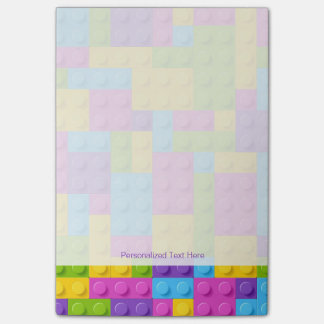 Plastic Construction Blocks Pattern Post-it Notes