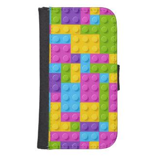 Plastic Construction Blocks Pattern Samsung S4 Wallet Case