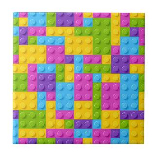 Plastic Construction Blocks Pattern Tile