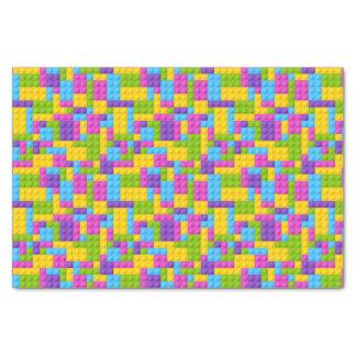 Plastic Construction Blocks Pattern Tissue Paper