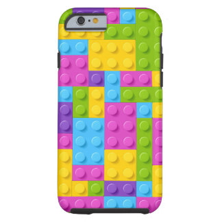 Plastic Construction Blocks Pattern Tough iPhone 6 Case