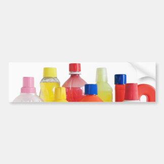 plastic detergent bottles bumper stickers