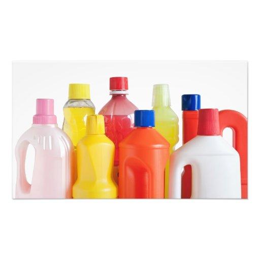 plastic detergent bottles photo print