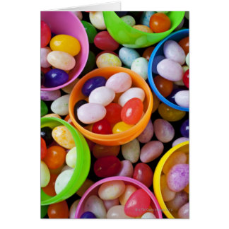 Plastic eggs filled with jelly beans card