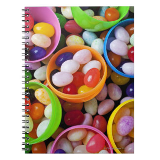 Plastic eggs filled with jelly beans notebook