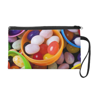 Plastic eggs filled with jelly beans wristlet