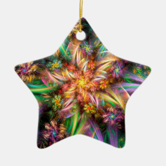 Plastic Flower Spiral Christmas Ornament