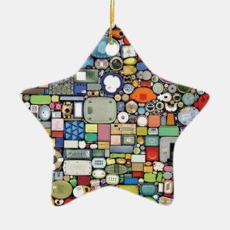Plastic Magic Elegance Ceramic Star Decoration