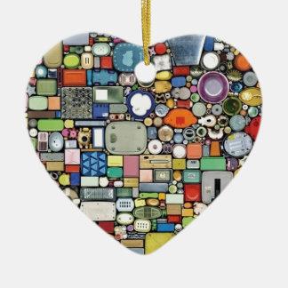 Plastic Magic Elegance Ceramic Heart Decoration