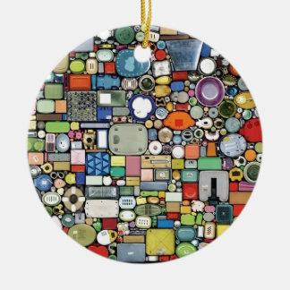 Plastic Magic Elegance Round Ceramic Decoration