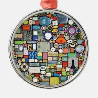 Plastic Magic Elegance Silver-Colored Round Decoration