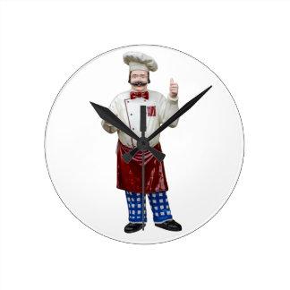 Plastic Model Chef Round Clock
