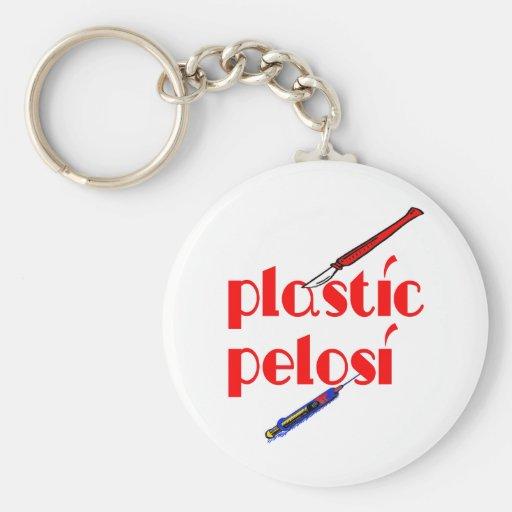 Plastic Nancy Pelosi Keychains