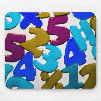 Plastic Numbers Mousepad