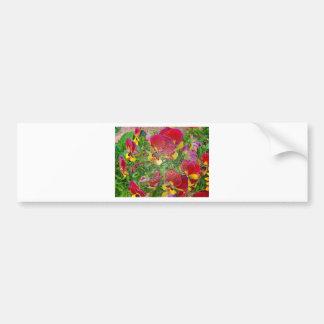 Plastic Pansies Bumper Sticker